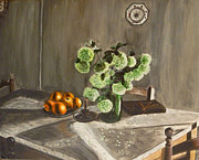 """indoor"" Still Life  Painting Posters - Tuscan Kitchen Poster by Demian Legg"