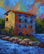 Marion Rose Art - Tuscan Mill by Marion Rose