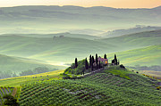 Tuscan Hills Framed Prints - Tuscan Morning Framed Print by Francesco Riccardo  Iacomino
