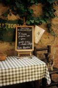 Menu Metal Prints - Tuscan Restaurant Patron Metal Print by Andrew Soundarajan