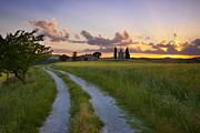 Tuscan Road Prints - Tuscan Sunset Print by Brian Jannsen