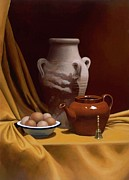 Teapot Paintings - Tuscan Urn Still Life by Bart Pass