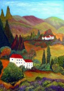 Anke Wheeler Paintings - Tuscan Valley Living by Anke Wheeler