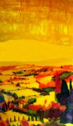 Yellow Line Mixed Media Prints - Tuscan view in Resin Print by Jason Allen