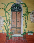 Villa Paintings - Tuscan Villa by Lorraine Adams