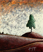 Cypress Tree Digital Art Posters - Tuscany 2 Poster by Mauro Celotti