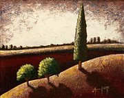 Cypress Tree Digital Art Posters - Tuscany 3 Poster by Mauro Celotti