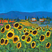 Tuscan Hills Painting Framed Prints - Tuscany Framed Print by Chris Mc Morrow