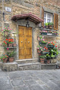 Hilltown Photos - Tuscany door by Al Hurley