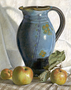 Pottery Pitcher Painting Prints - Tuscany Print by Duane Wolford
