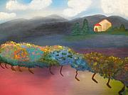 Winery Paintings - Tuscany by Jennifer Lee
