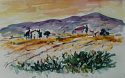 Toscana Paintings - Tuscany Landscape 1 by Xueling Zou