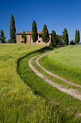 Country Driveway Photo Posters - Tuscany Villa Poster by Brian Jannsen