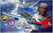 Fighter Aces Acrylic Prints - Tuskegee Airmen Acrylic Print by A Hermann