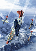 Fighter Prints - Tuskegee Airmen  Print by Kurt Miller