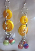 Peach Jewelry Originals - Tutti Fruitt Earrings by Janet  Telander