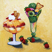 Greeting Card Prints - Tutti Frutti Print by Enzie Shahmiri