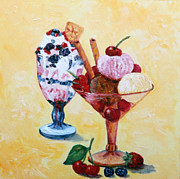 Party Birthday Party Metal Prints - Tutti Frutti II Metal Print by Enzie Shahmiri