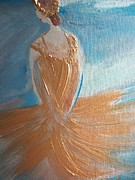Stage Painting Originals - Tutu in Gold by Judith Desrosiers