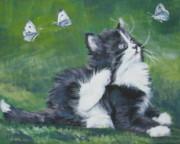 Tuxedo Kitten Print by Lee Ann Shepard