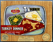 Tv Set Prints - Tv Dinner, 1954 Print by Granger