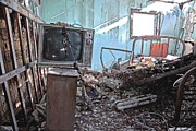 Old Houses Digital Art - TV On Stand by James Steele
