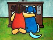 Quality Paintings - TV Quality Time by Yvonne Lozano