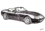 Coupe Drawings Originals - TVR Griffith by Dan Poll