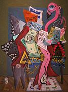 Monopoly Originals - Twas the Loopholes Paper Sharks and Flamingo Dancer that Kill by Dennis Tawes
