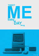 Internet Posters - Tweet me baby all night long Poster by Irina  March