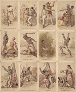 Slavery Photo Framed Prints - Twelve Illustrated Cards Narrating Framed Print by Everett