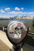 New York Harbor Art - Twenty Five Cents View by George Oze