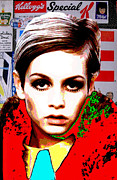 Twiggy Pop Art Posters - Twigg 2 Poster by Chandler  Douglas