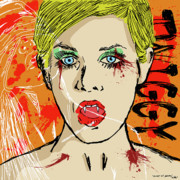 Blindfolded Digital Art - Twiggy Got Jealous by Sean King