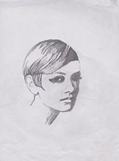 Twiggy Prints - Twiggy Print by Marie Hough