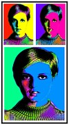 Twiggy Mixed Media Framed Prints - Twiggy Framed Print by Otis Porritt