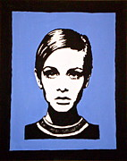 Twiggy Pop Art Paintings - Twiggy by Ruth Oosterman