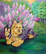 Australian Bush Prints - Twilight - Australian Terrier Print by Lyn Cook