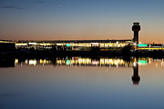 Air Traffic Control Prints - Twilight at Anchorage International Airport Print by Tim Grams