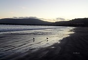 Grey Day Prints - Twilight at Avila Beach California Print by Jan Moore
