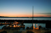 Boat Slip Posters - Twilight at Edmonds Marina Poster by Kathi Shotwell