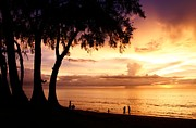 Twilight At Maikao Beach Phuket  Print by Anusorn Phuengprasert nachol