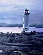 Cove Mixed Media - Twilight at Peggys Cove by Patricia L Davidson