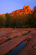 Cathedral Rock Photos - Twilight Cathedral by Mike  Dawson