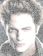 Swann Digital Art - Twilight Edward Word Mosaic by Paul Van Scott
