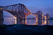 City Photography Digital Art - Twilight Forth Bridge Edinburgh by Donald Davis