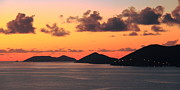 Van Dyke Acrylic Prints - Twilight in the British Virgin Islands Acrylic Print by Roupen  Baker