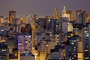 Sao Paulo Framed Prints - Twilight In The City Of Sao Paulo, Brazil Framed Print by David Davis