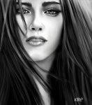 Twilight Drawings - Twilight-Kristen Stewart by Lisa Pence