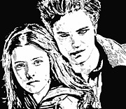 Sparkle Drawings Posters - Twilight Poster by Lori Jackson